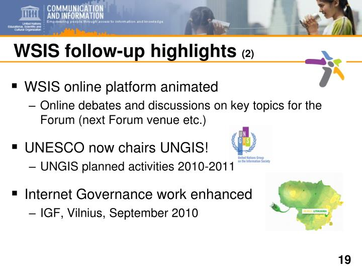 WSIS follow-up highlights