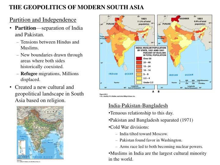THE GEOPOLITICS OF MODERN SOUTH ASIA