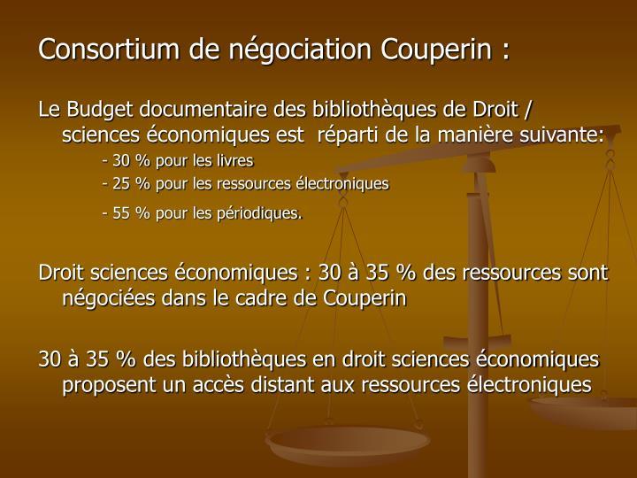 Consortium de négociation Couperin :