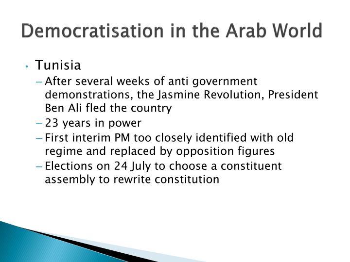 Democratisation in the Arab World
