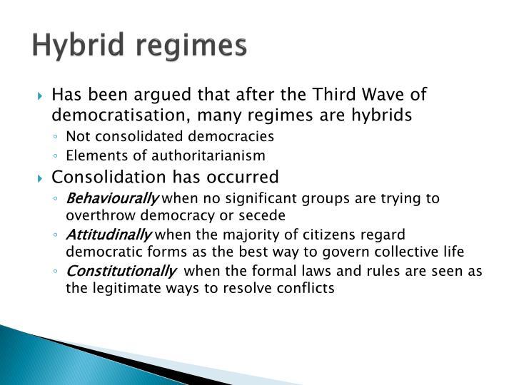 Hybrid regimes