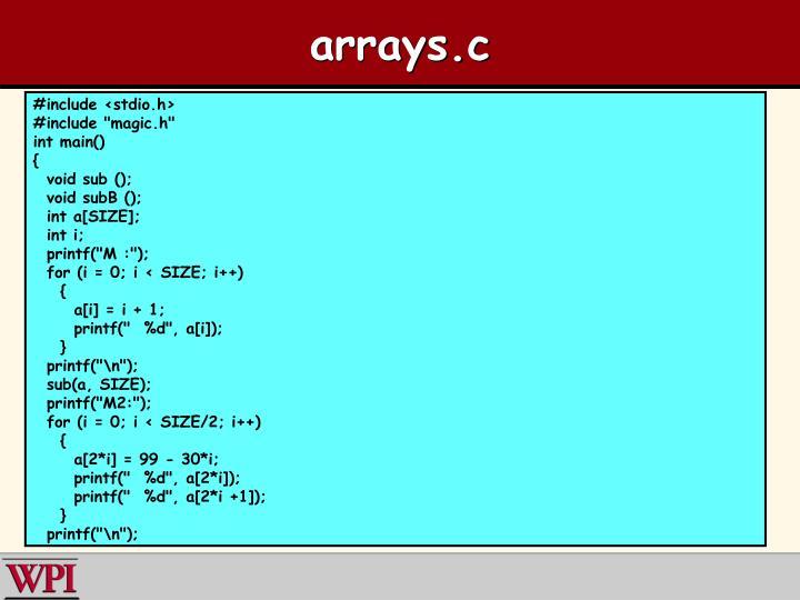 arrays.c