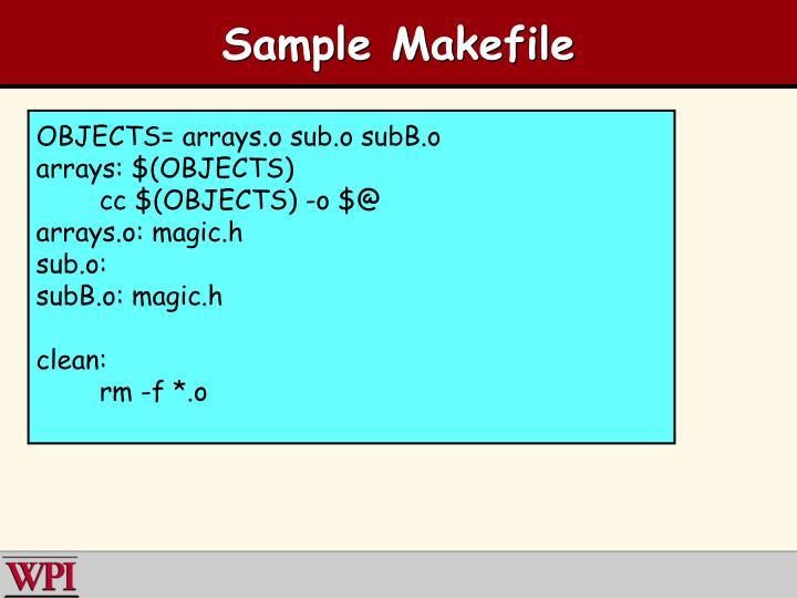 Sample Makefile