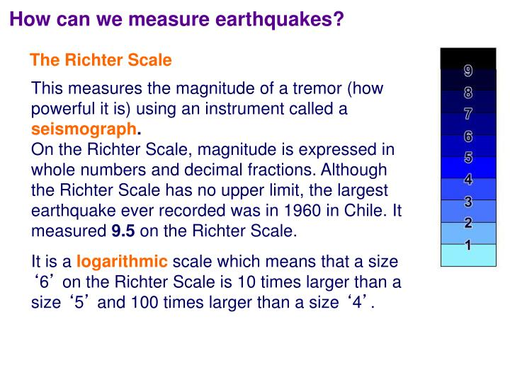 How can we measure earthquakes?
