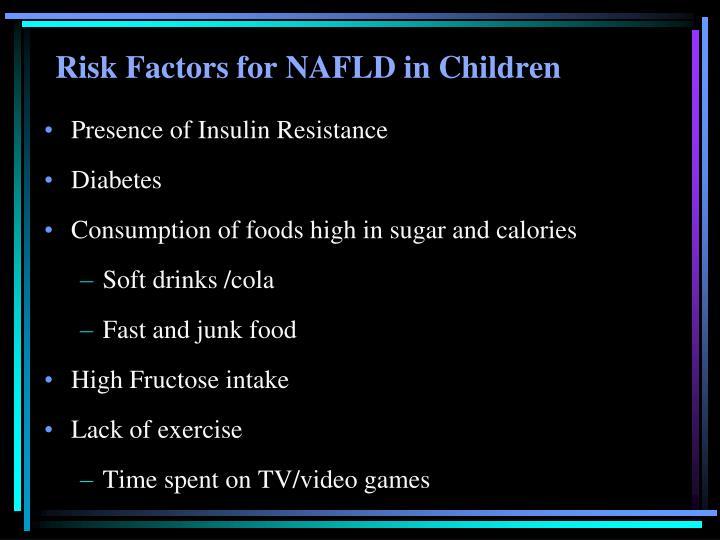 Risk Factors for NAFLD in Children