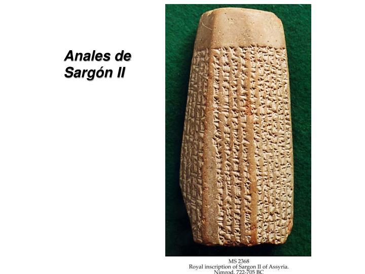 Anales de Sargón II
