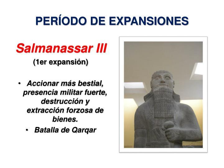 PERÍODO DE EXPANSIONES