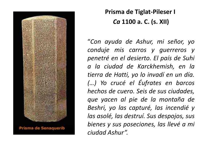 Prisma de Tiglat-Pileser I