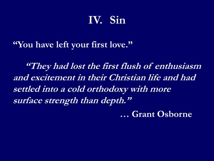 IV.Sin