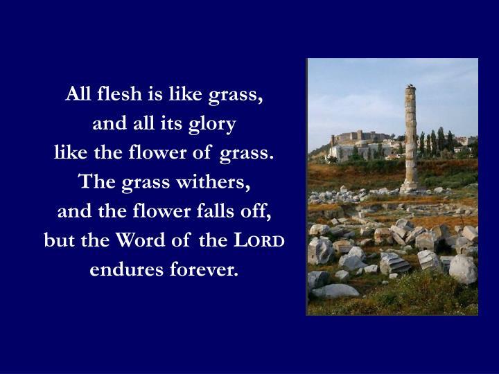 All flesh is like grass,
