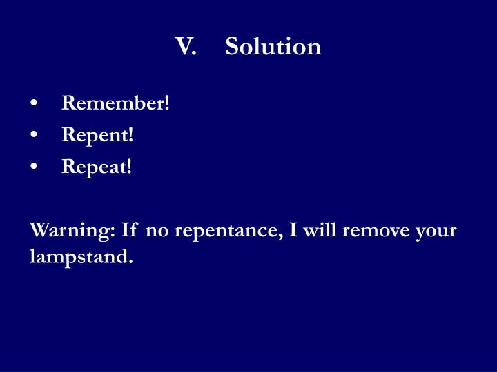 V.Solution