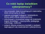 co robi b d c wiadkiem cyberprzemocy