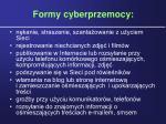 formy cyberprzemocy
