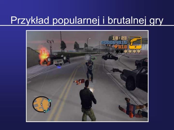 Przykad popularnej i brutalnej gry
