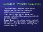 second life wirtualne drugie ycie