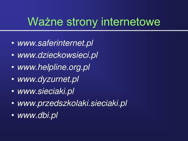 Wane strony internetowe