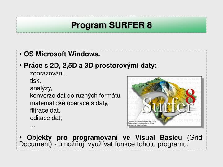 Program SURFER 8