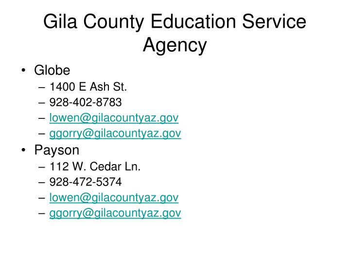 Gila County Education Service Agency