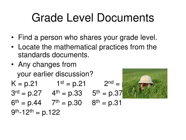 Grade Level Documents