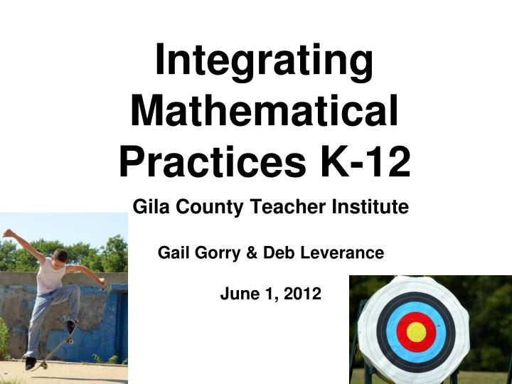 integrating mathematical practices k 12