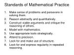 standards of mathematical practice