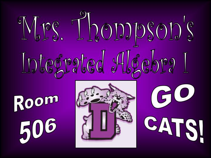 Mrs. Thompson's