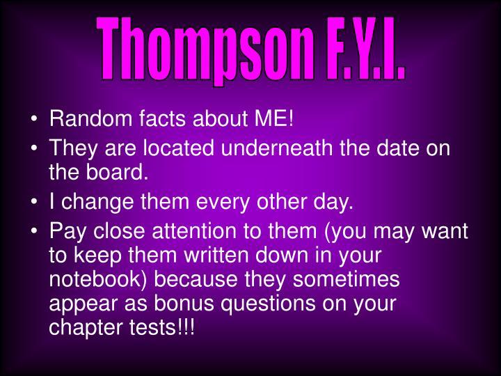 Thompson F.Y.I.