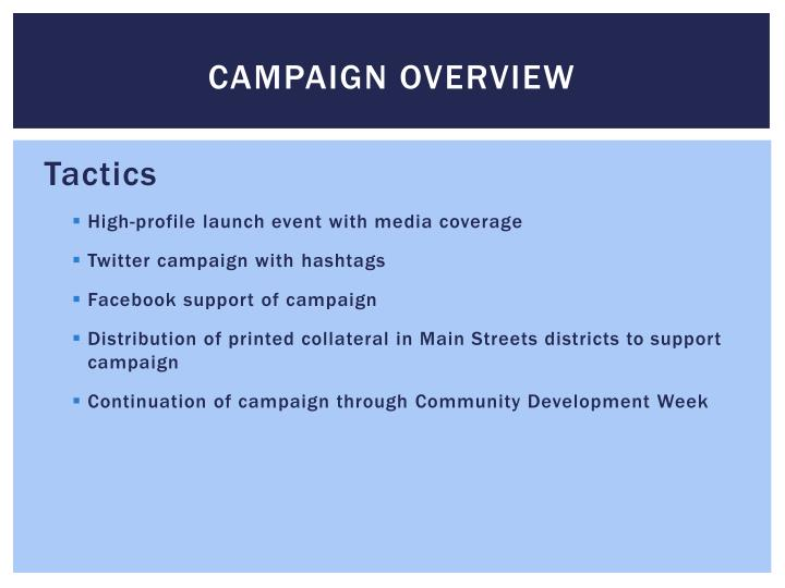 Campaign overview