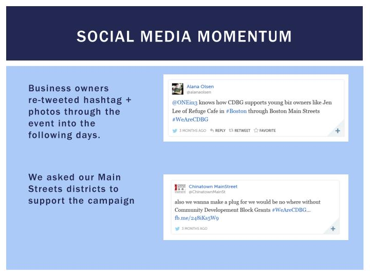 Social media momentum