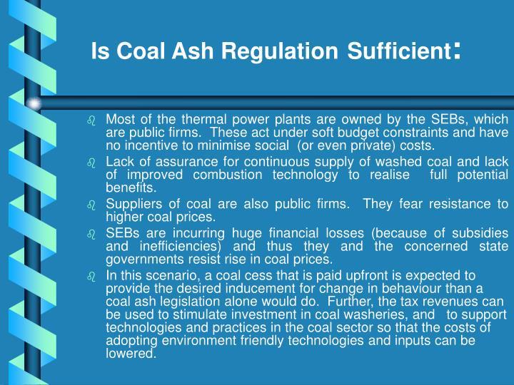 Is Coal Ash Regulation