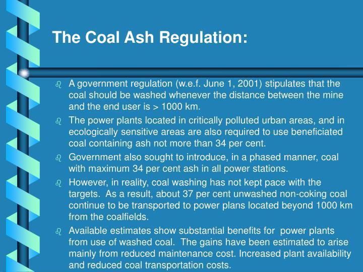 The Coal Ash Regulation:
