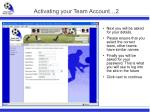 activating your team account 2