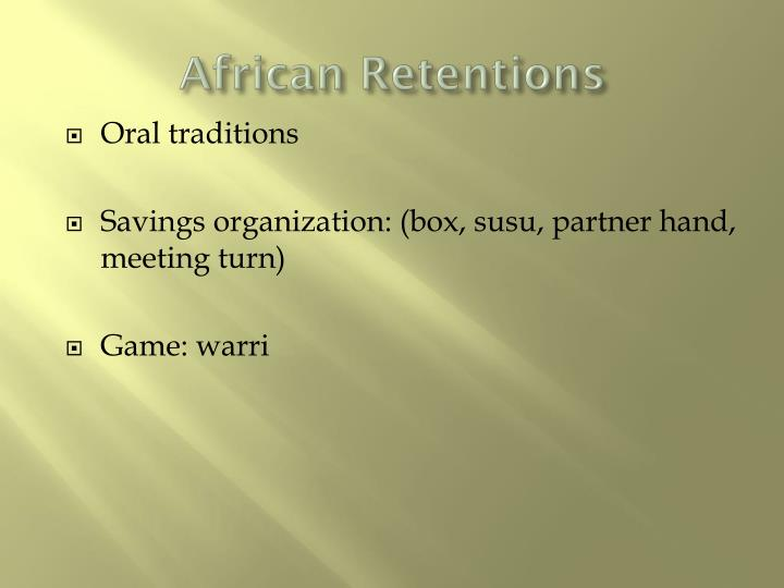 African Retentions