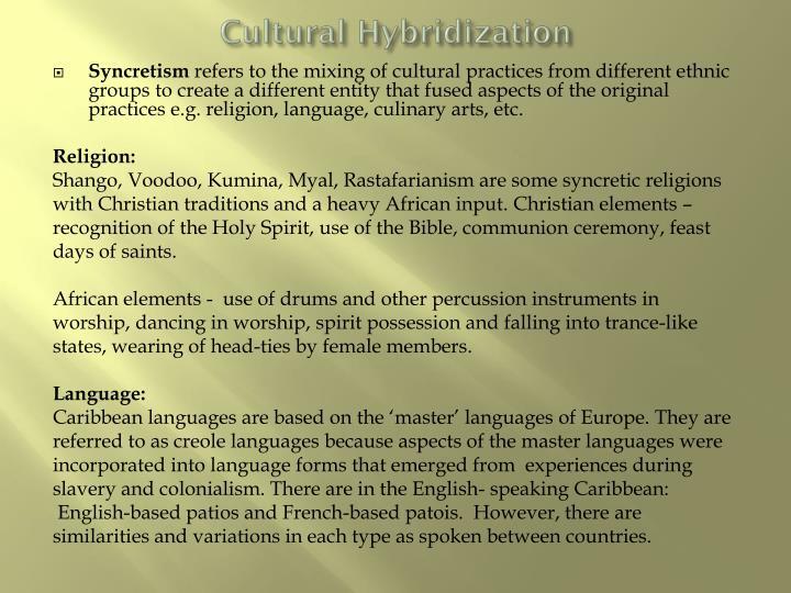 Cultural Hybridization