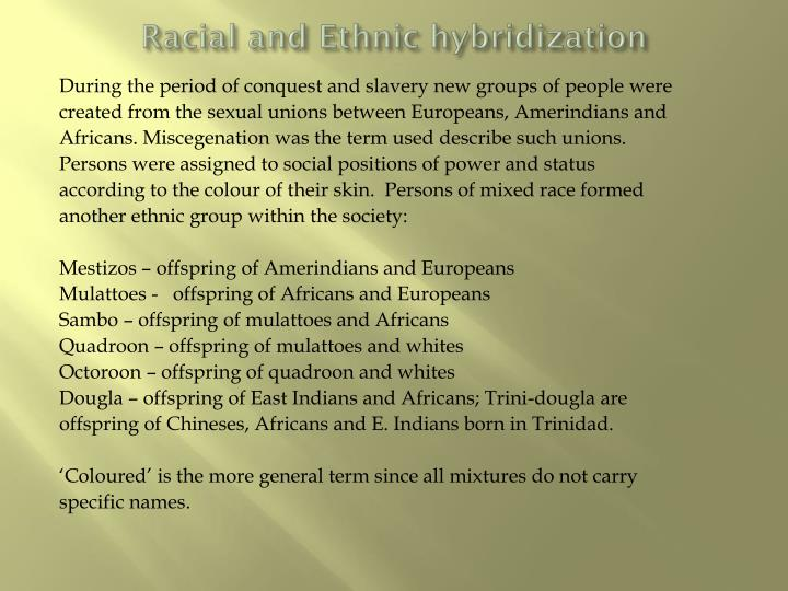 Racial and Ethnic hybridization