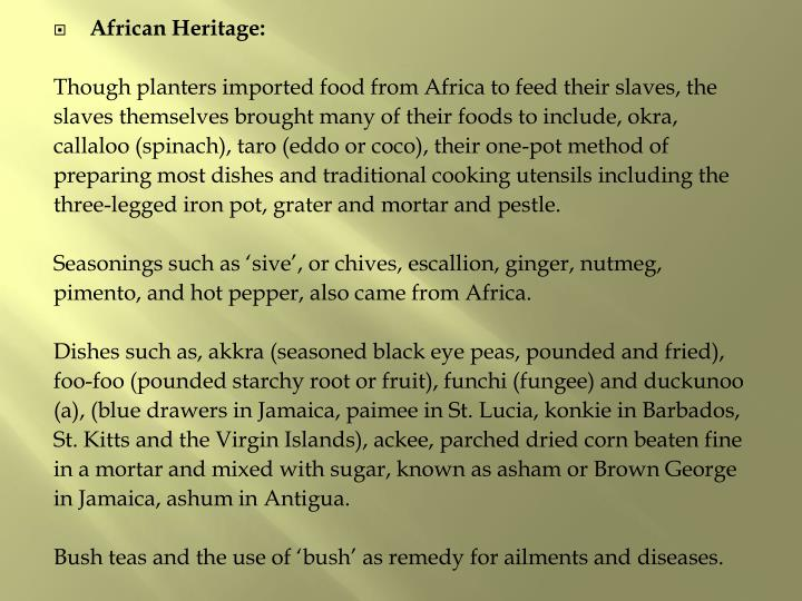 African Heritage: