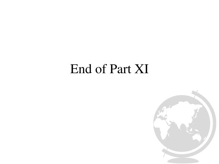End of Part XI