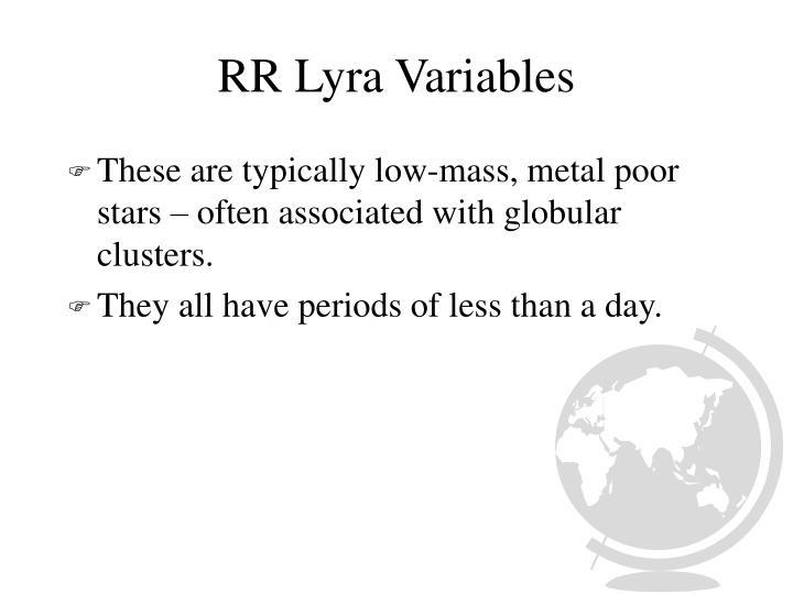 RR Lyra Variables