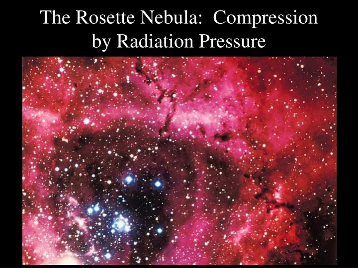 The Rosette Nebula:  Compression by Radiation Pressure