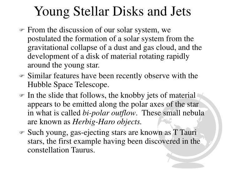 Young Stellar Disks and Jets