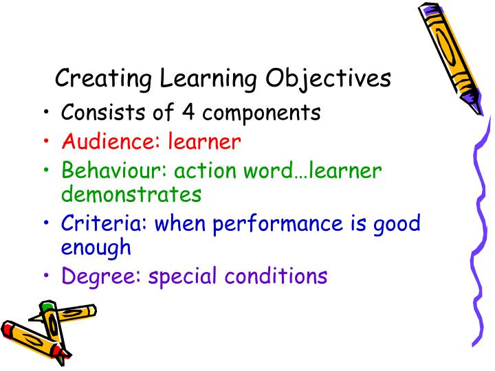 Creating Learning Objectives