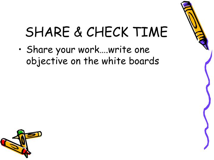 SHARE & CHECK TIME