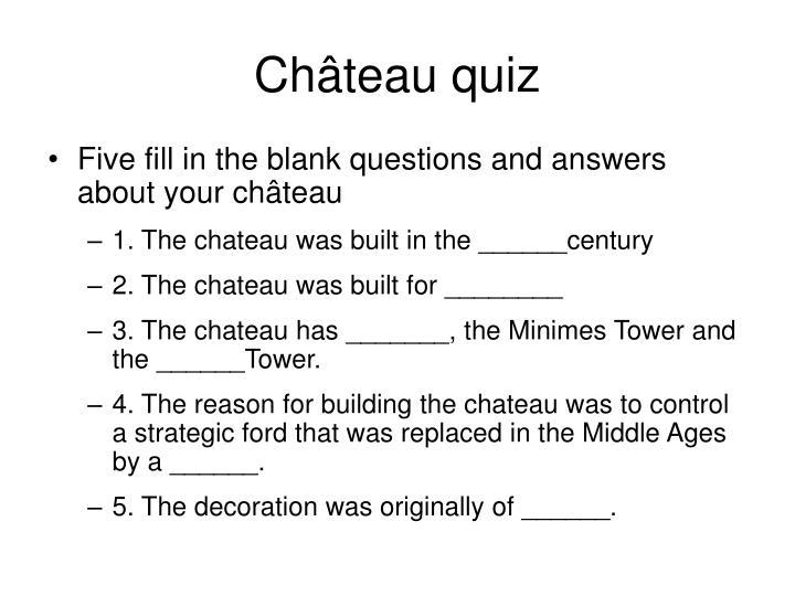 Château quiz