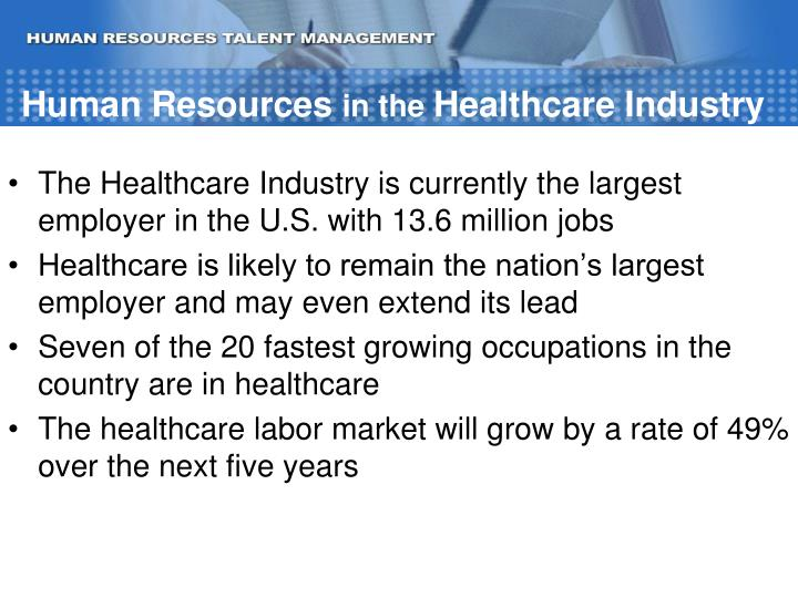 Human resources in the healthcare industry