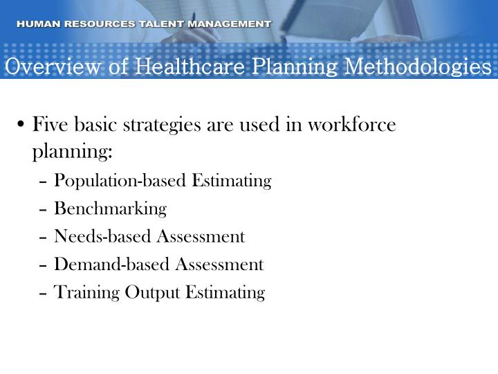 Overview of Healthcare Planning Methodologies