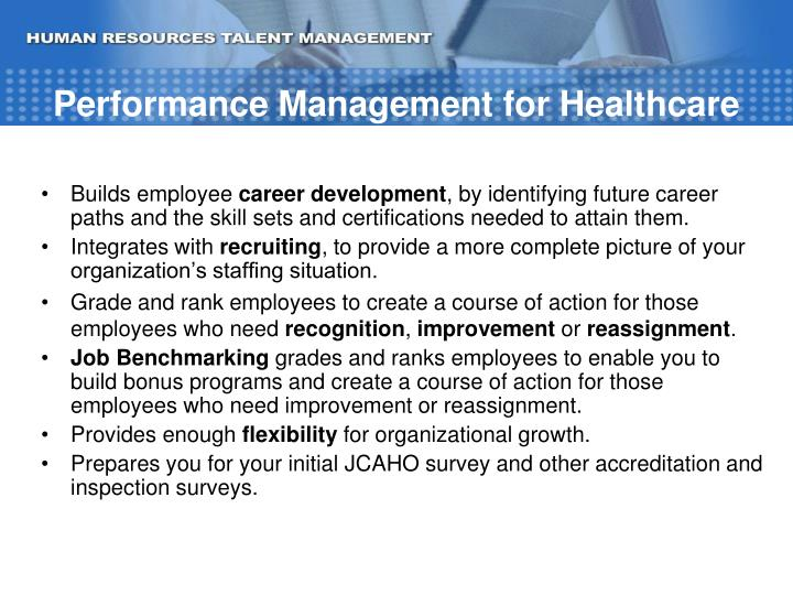 Performance Management for Healthcare