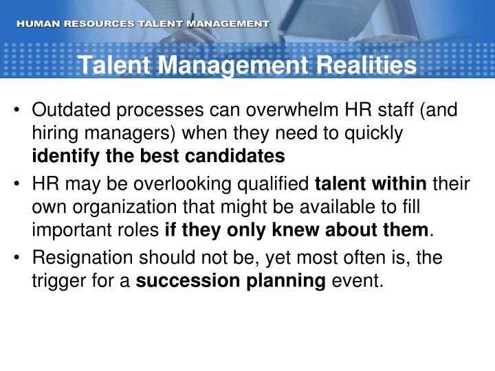 Talent Management Realities
