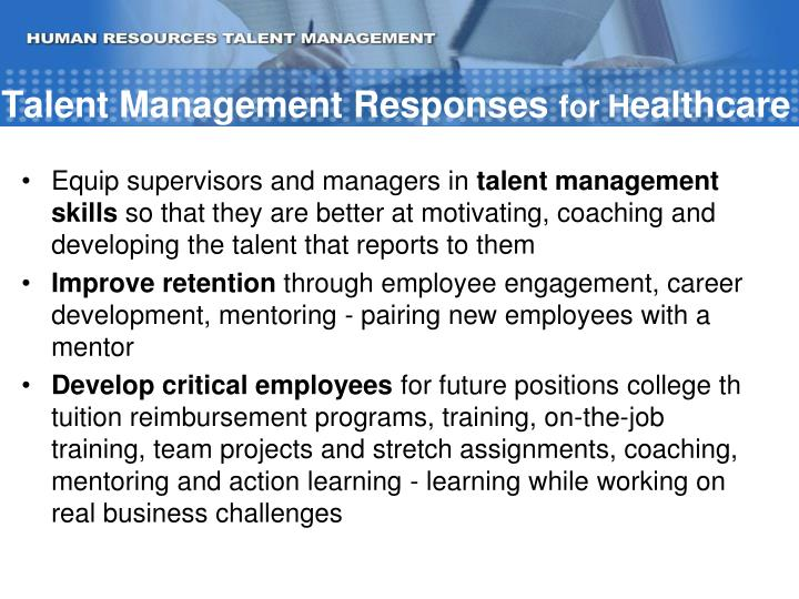 Talent Management Responses