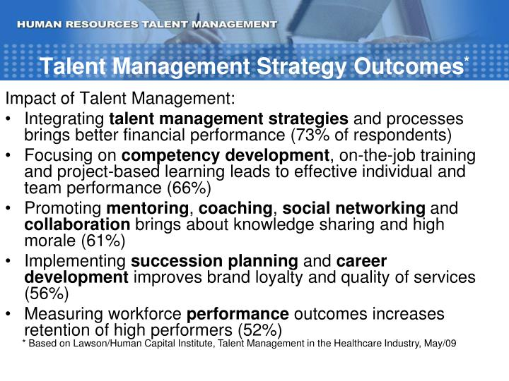 Talent Management Strategy Outcomes