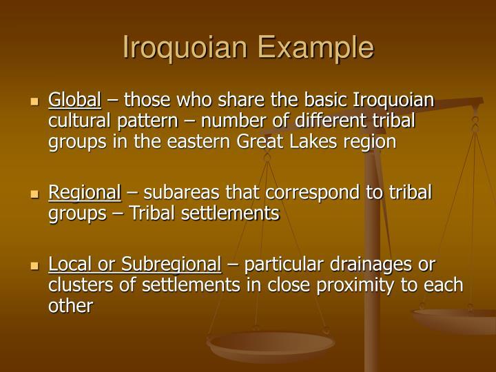 Iroquoian Example